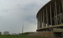 view of the TV tower and the stadium