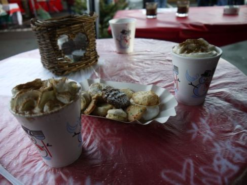warm drinks with cookies :)